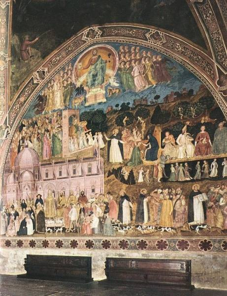 Frescoes On The Right Wall